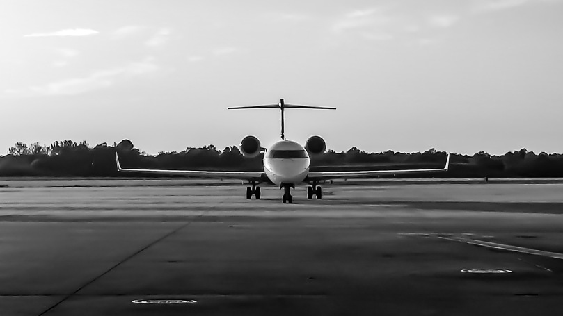 front view B & W