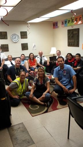 Crew members in STL