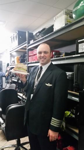 Chief Pilot Brad Sargent refuels for the flight home