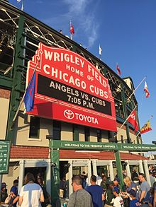 Wrigley Field, home of the Chicago Cubs